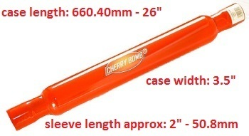 "3.5"" Case X 26"" Case length - Cherry Bomb"