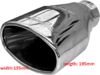 Oval, deep dish, rolled edge exhaust trim