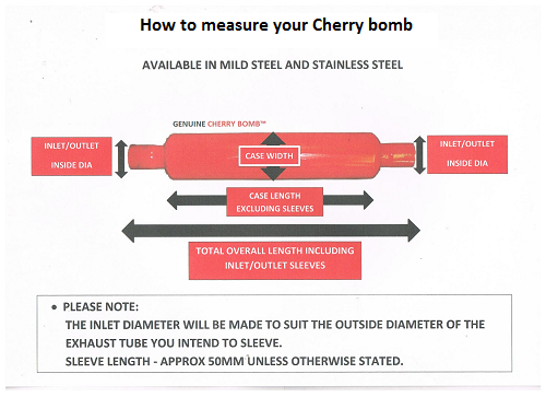 DESIGN YOUR OWN CHERRY BOMB - INFO ONLY PRICE NOT CORRECT